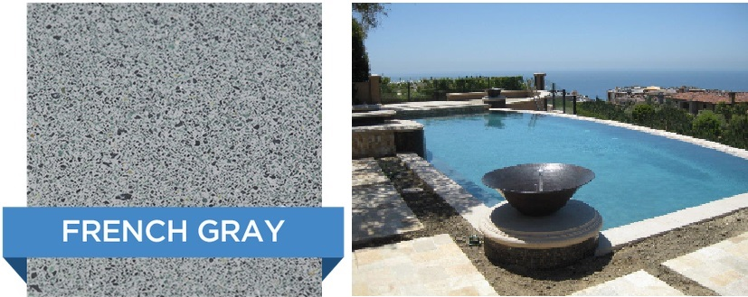 French Grey Hydrazzo pool finish