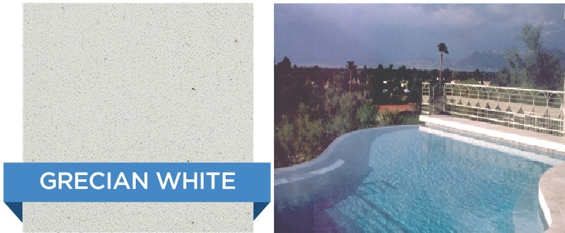 Grecian White Hydrazzo pool finish