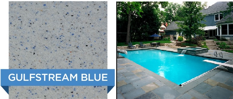 Gulfstream Blue Hydrazzo pool finish