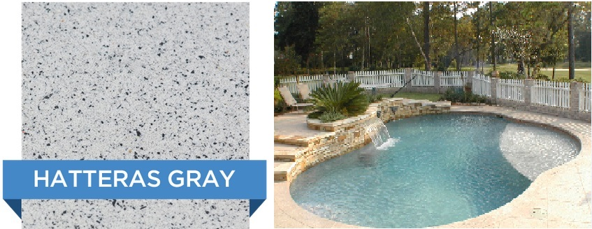 Hatteras Grey Hydrazzo pool finish