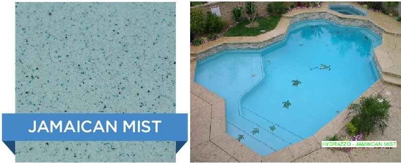 Jamaican Mist Hydrazzo pool finish