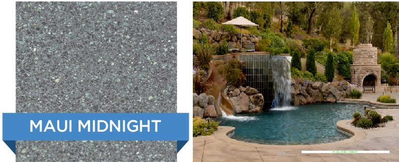 Maui Midnight Hydrazzo pool finish