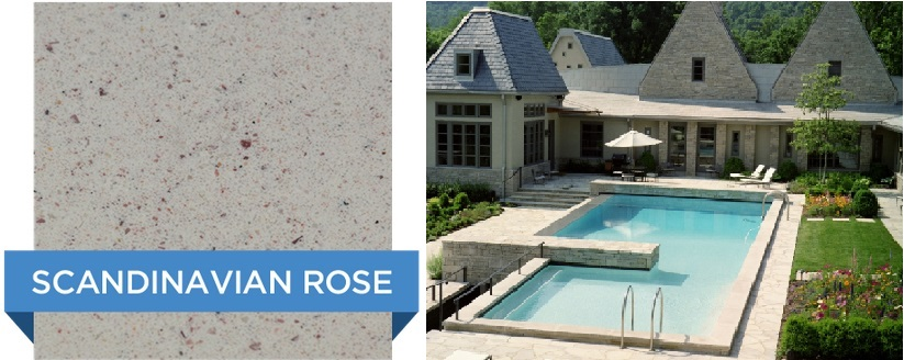 Scandinavian Rose Hydrazzo pool finish