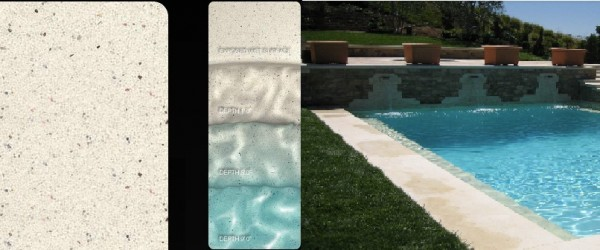 Pebble Sheen Arctic White pool finish