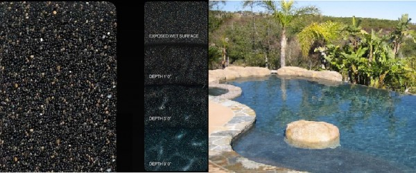 Pebble Sheen Black Onyx pool finish