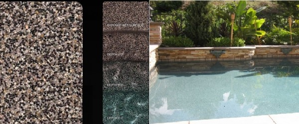 Pebble Sheen Bordeaux pool finish