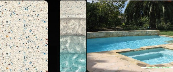 Pebble Sheen Cool Blue pool finish