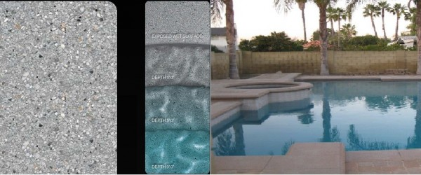 Pebble Sheen French Gray pool finish