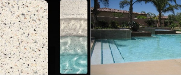 Pebble Sheen White Diamonds pool finish