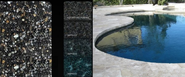 Pebble Tec Black Marble pool finish