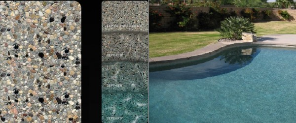 Pebble Tec Caribbean Blue pool finish