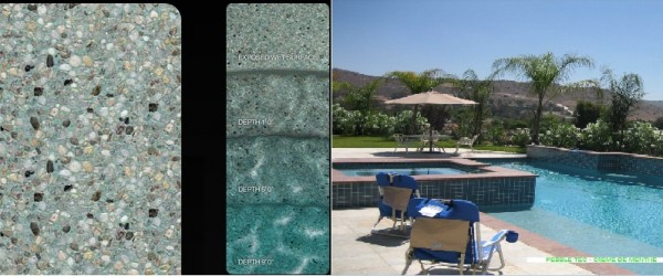 Pebble Tec Creme de Menthe pool finish