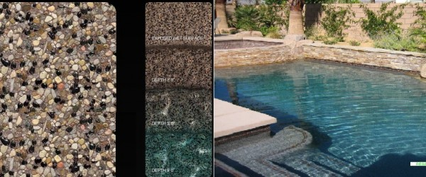 Pebble Tec Majestic Plum pool finish
