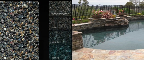 Pebble Tec Midnight Blue pool finish