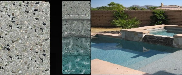 Pebble Tec Moonlight Grey pool finish