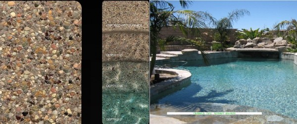 Pebble Tec Sandy Beach pool finish
