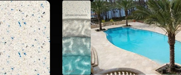 Pebble Tec Sky Blue pool finish