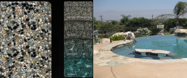Pebble Tec Tahoe Blue pool finish