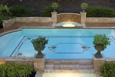 Grecian Mosaic Style in Pool
